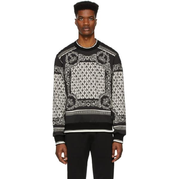 Dolce & Gabbana Bandana Print Jersey Cotton Sweatshirt