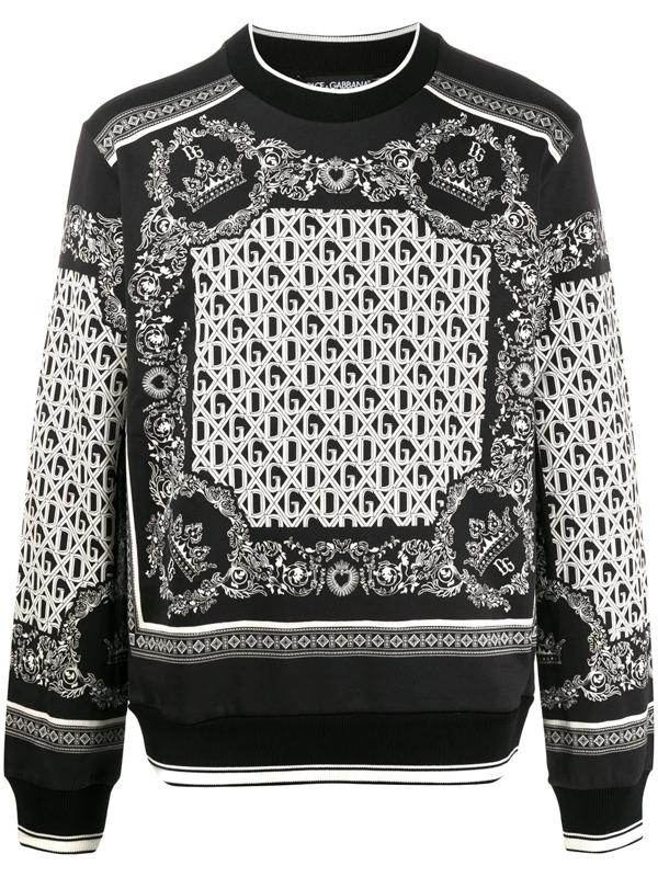 Dolce & Gabbana Dolce And Gabbana Black And White Bandana Sweatshirt