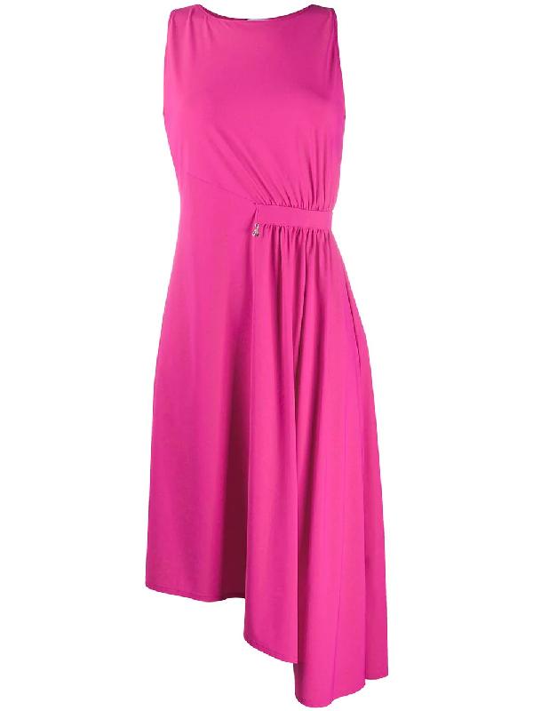 Patrizia Pepe Asymmetric Hem Dress In Pink