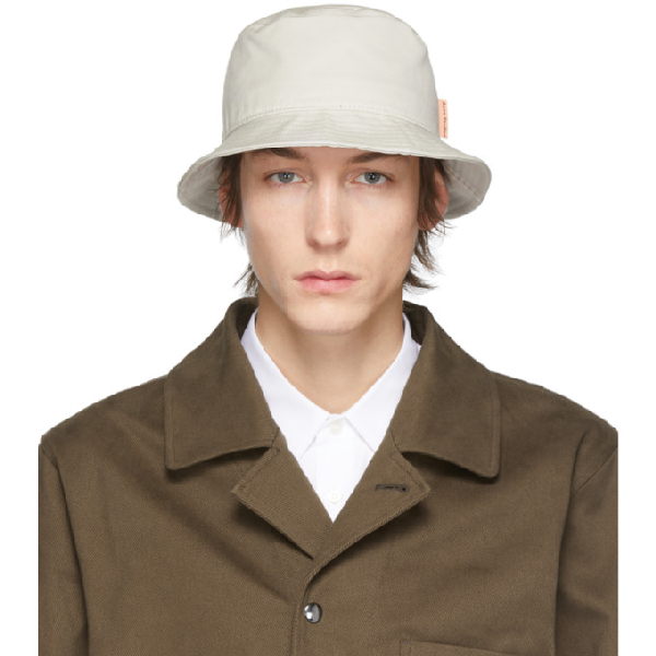 Acne Studios Brun Cotton-canvas Bucket Hat In Oat Biege