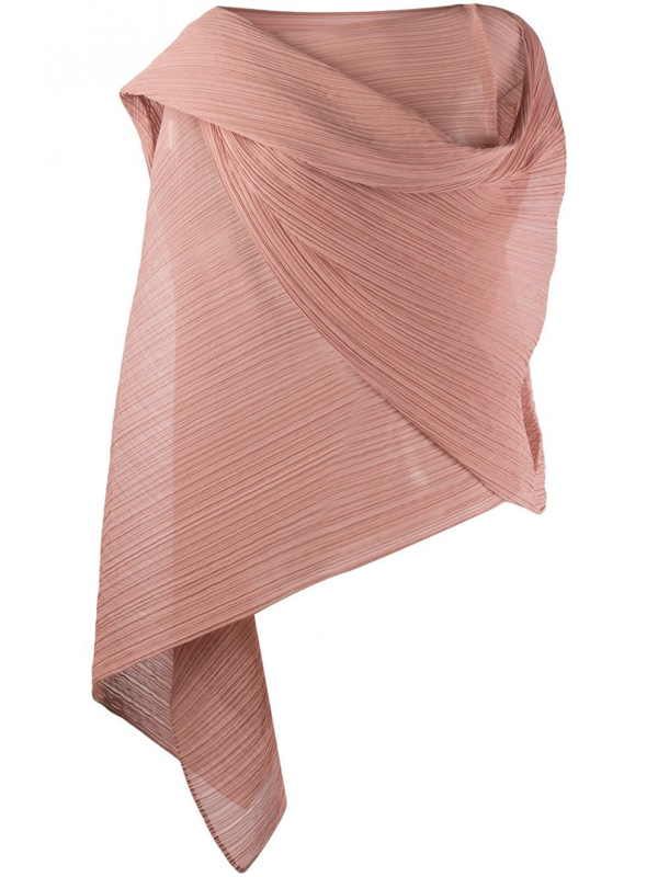 Pleats Please Issey Miyake Stole In Pink