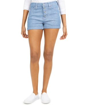 Dickies Junior's Striped Button-fly Shorts In Light Stone Wash