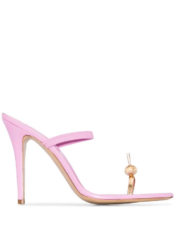 Natasha Zinko Pink Bunny 110 Leather Sandals