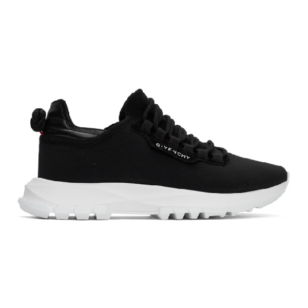 Givenchy Spectre Leather-trimmed Neoprene Sneakers In 001-black