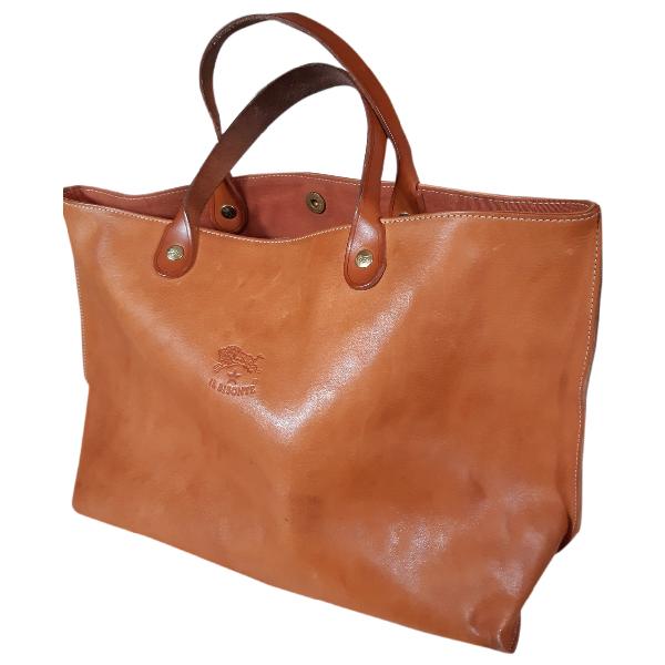 Il Bisonte Ecru Leather Handbag