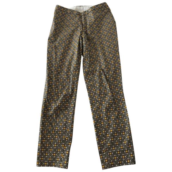 Pre-owned Chloé Stora Multicolour Cotton Trousers