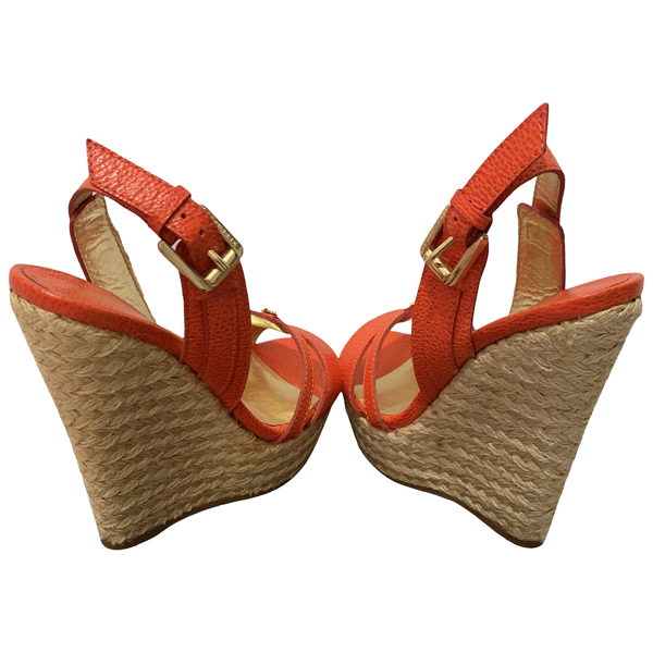 Pre-owned Dsquared2 Red Leather Espadrilles