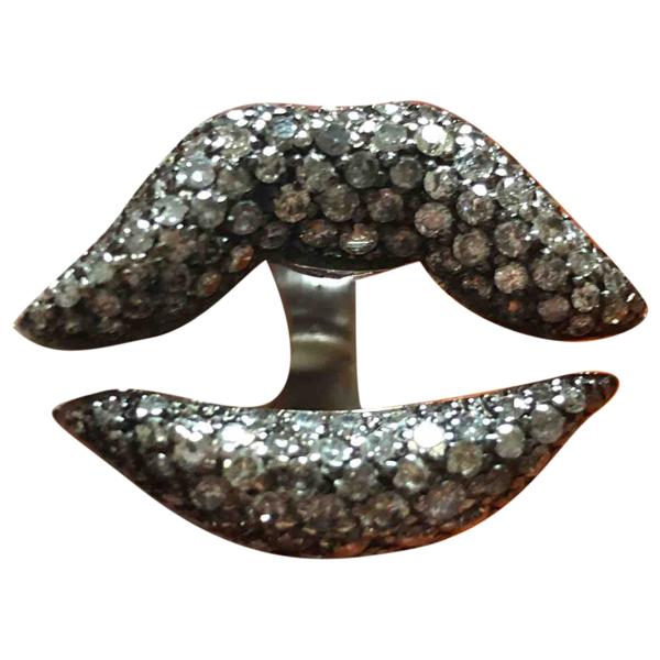 Bernard Delettrez Silver White Gold Ring