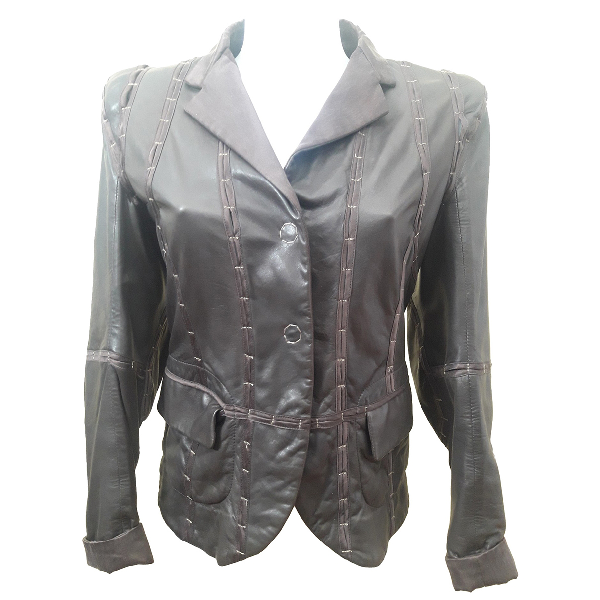 Wunderkind Brown Leather Leather Jacket