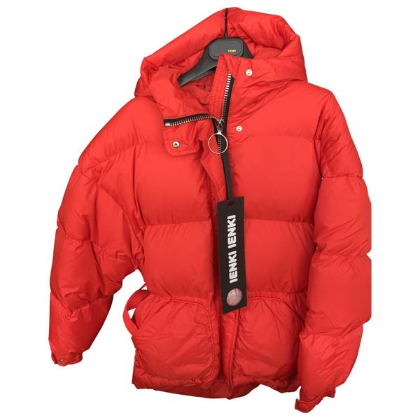 Pre-owned Ienki Ienki Red Coat