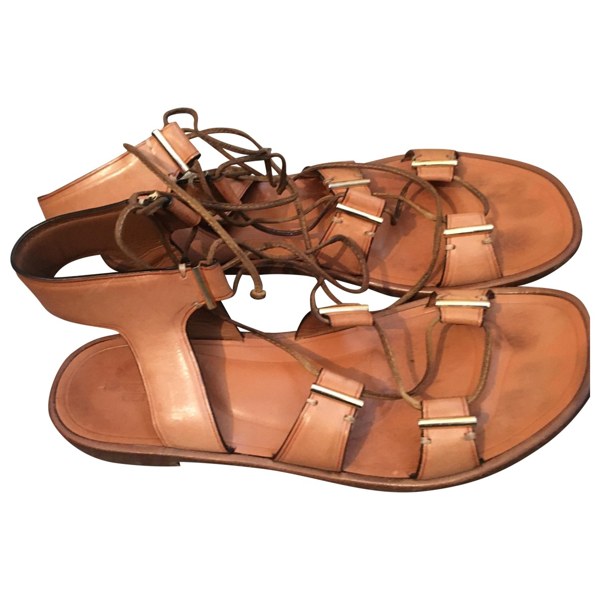 Rosetta Getty Brown Leather Sandals