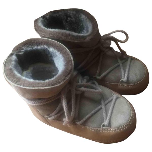 Pre-owned Ienki Ienki Beige Leather Boots