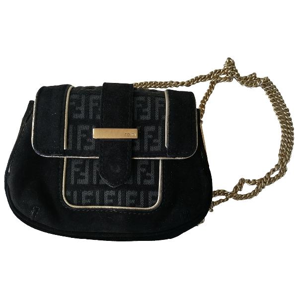 Fendi Black Velvet Handbag