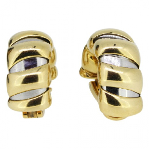 Bvlgari Tubogas Multicolour Gold And Steel Earrings