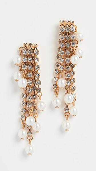 Elizabeth Cole Tressor Earrings In Pearl
