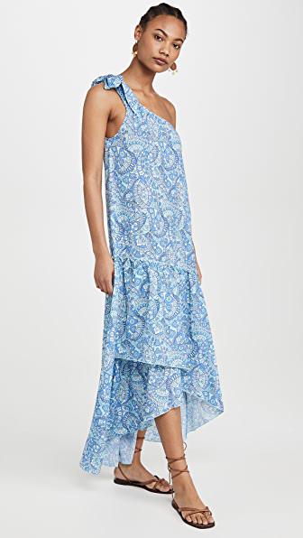 Paloma Blue Giselle Dress In Retro Azure
