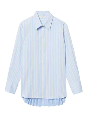 Sandro Women's Sielle Striped Button Down Shirt In Blue Sky