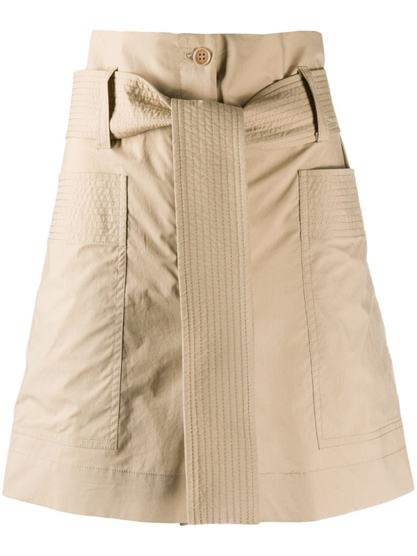 P.a.r.o.s.h. Belted Waist Shorts In Neutrals