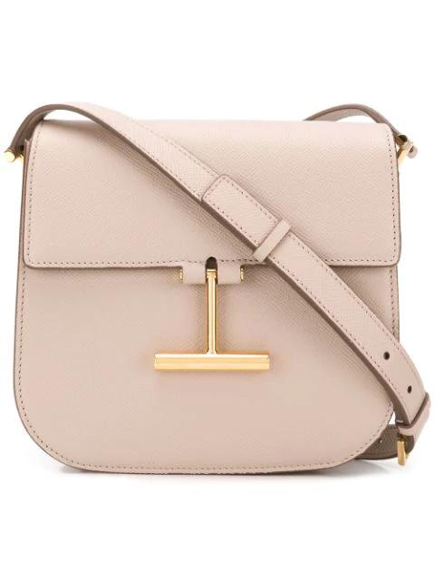 Tom Ford Grain Leather Mini Tara Crossbody Bag In Pink