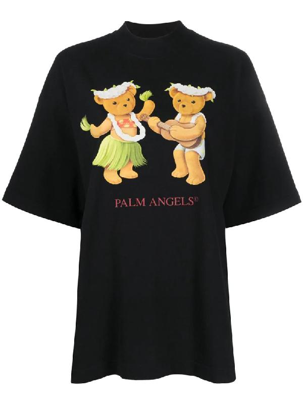 Palm Angels Dancing Bears T-shirt In Black