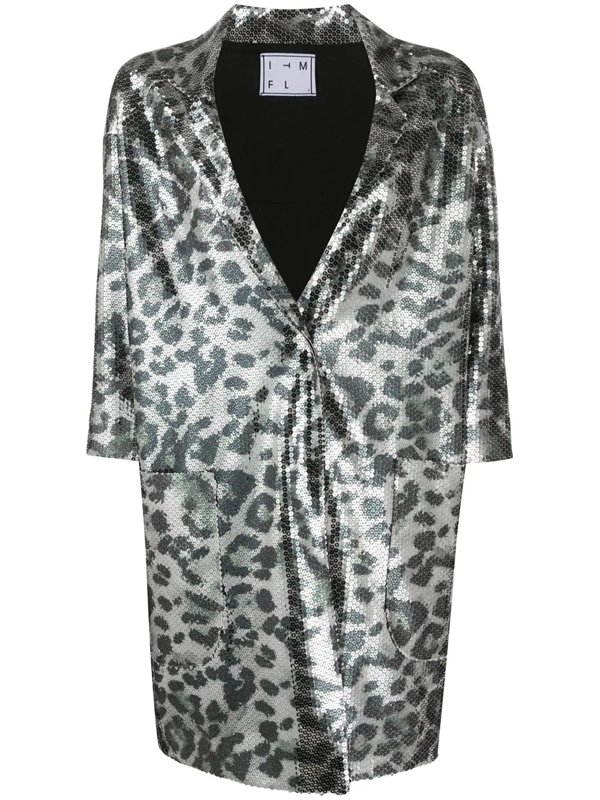In The Mood For Love Sarah Panther Jacket In Silver