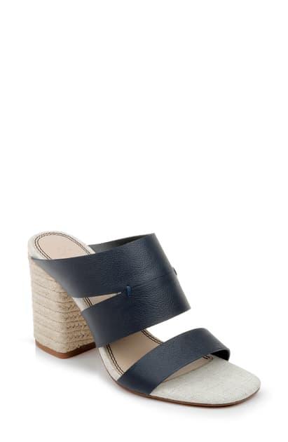 Splendid Women's Matty Slip On High-heel Sandals In Navy Leather