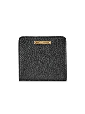 Gigi New York Women's Mini Leather Bi-fold Wallet In Black