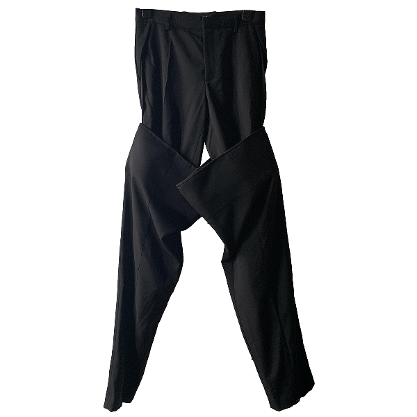 Y/project Black Wool Trousers