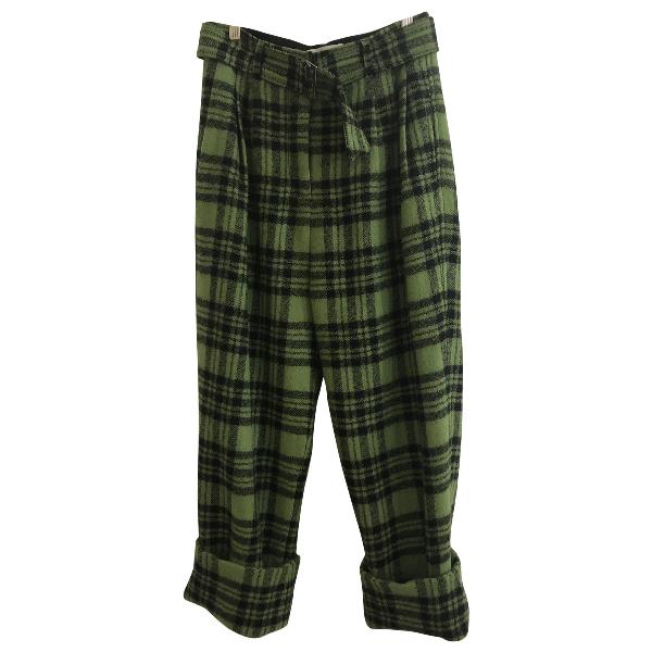 Christian Wijnants Green Wool Trousers
