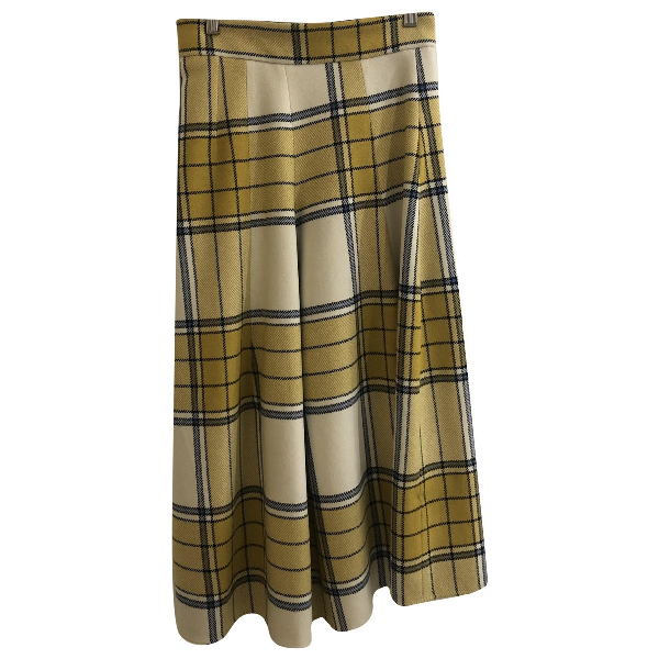Christian Wijnants Yellow Wool Skirt
