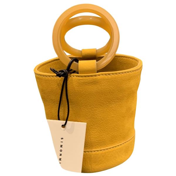 Simon Miller Small Bonsai Yellow Suede Handbag