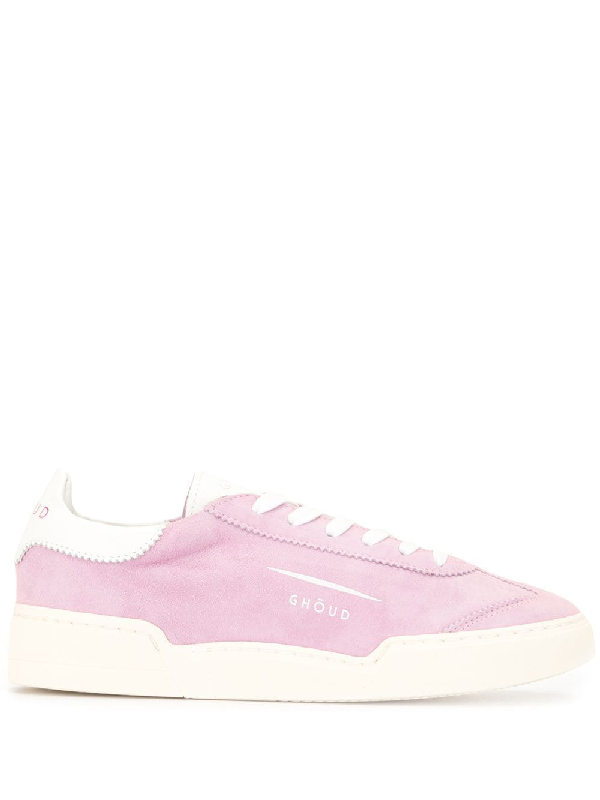 Ghoud Venice Textured Style Sneakers In Pink