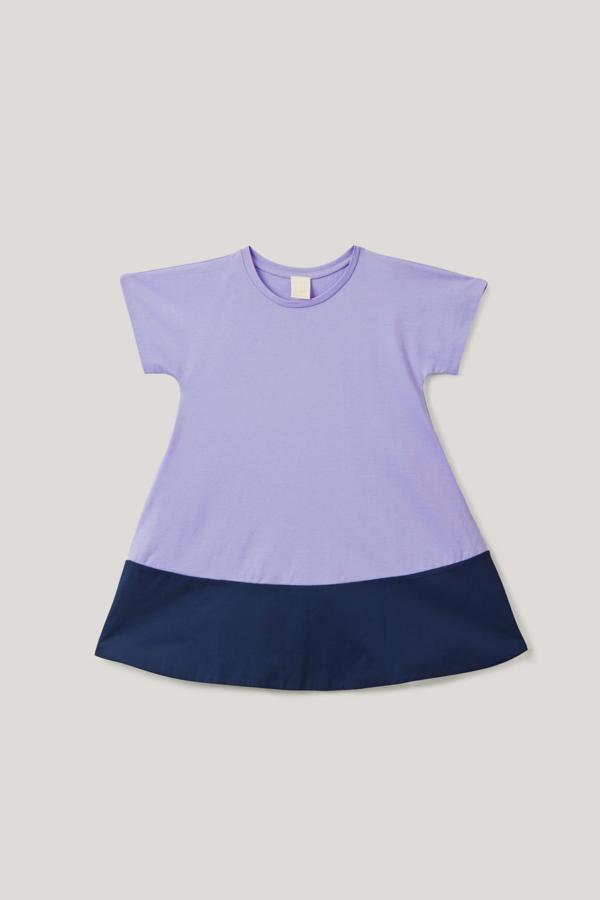 Cos Kids' Color-block Panel Dress In Purple
