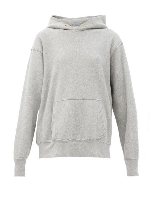 Les Tien Fleeceback Cotton-jersey Hooded Sweatshirt In Green