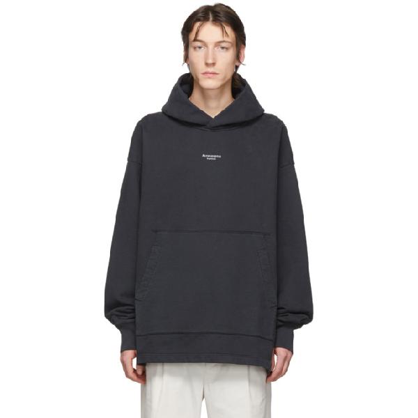Acne Studios Franklin Logo-print Cotton Hooded Sweatshirt In Black