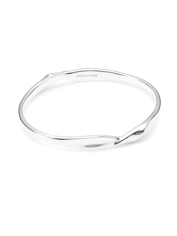 Ippolita Women's Classico Sterling Silver Twisted Ribbon Bangle Bracelet
