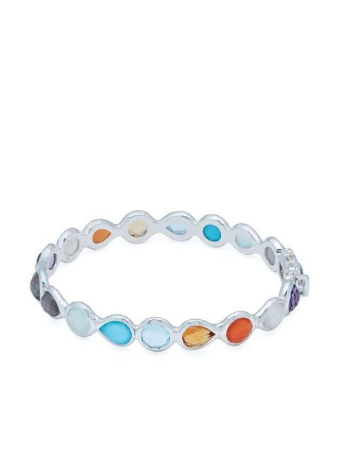 Ippolita Women's Rock Candy® Sterling Silver & Multi-stone All-around Hinged Bangle