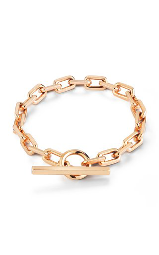 Walters Faith Saxon Solid Chain Link Toggle Bracelet | Rose Gold In Pink