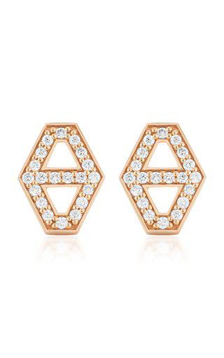 Walters Faith Keynes Diamond Hexagon Stud Earrings | Diamonds/rose Gold In Pink