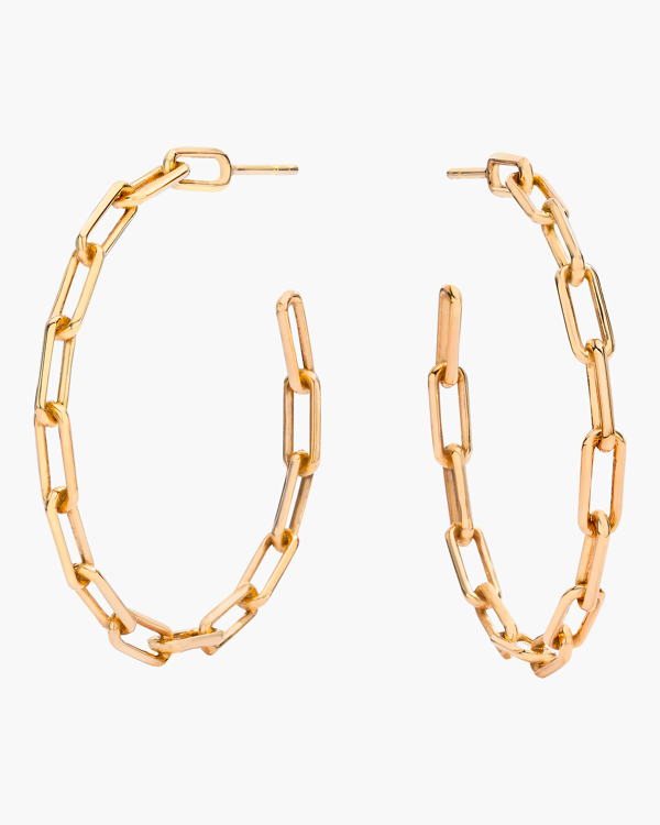 Walters Faith Saxon Chain Link Hoop Earrings | Rose Gold