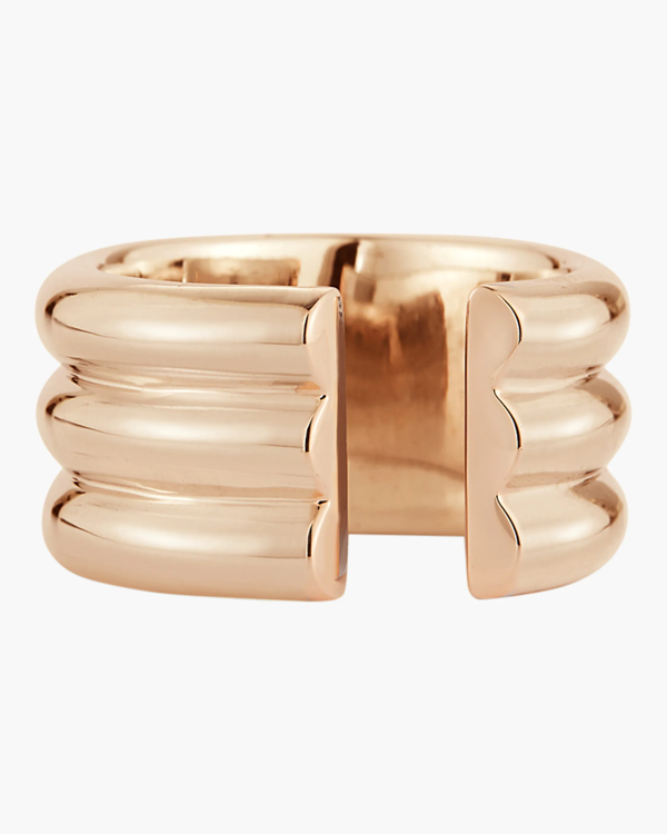 Walters Faith Thoby Three Row Tubular Ring In Rose Gold