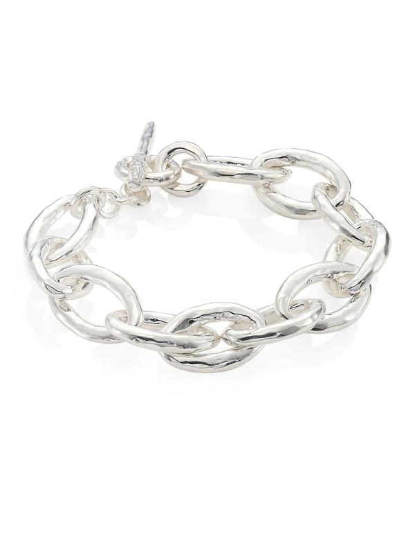 Ippolita Women's Classico Mini Sterling Silver Hammered Bastille Link Bracelet