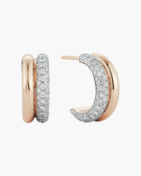 Walters Faith Diamond Tubular Huggie Earrings | Diamonds/rose Gold