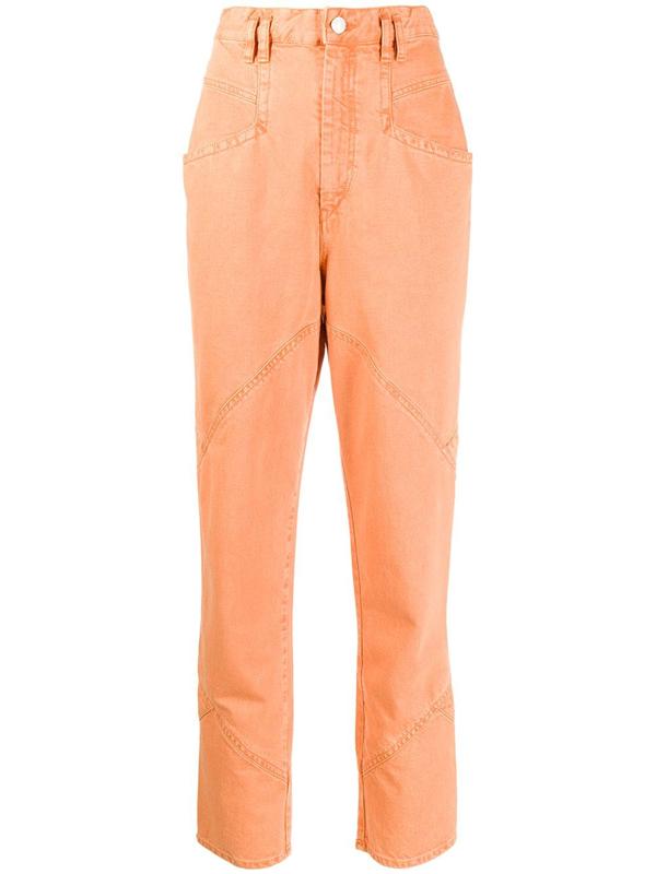 Isabel Marant Eloisa High-rise Boyfriend Jeans In Orange