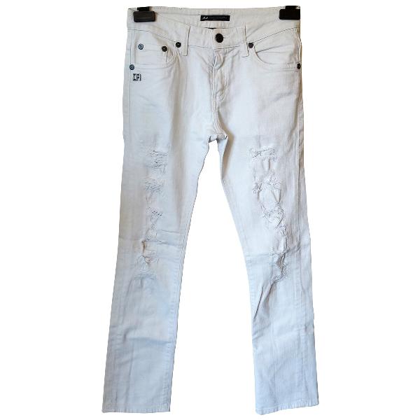 Daniele Alessandrini White Cotton - Elasthane Jeans