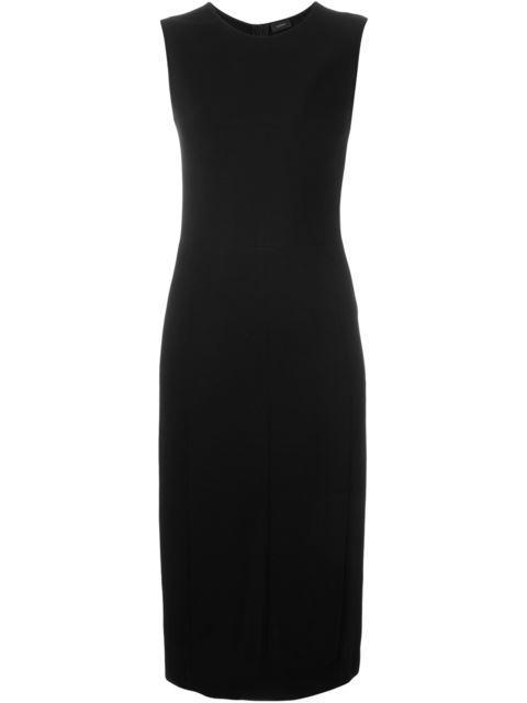 Joseph Sleeveless Stretch Dress In Black