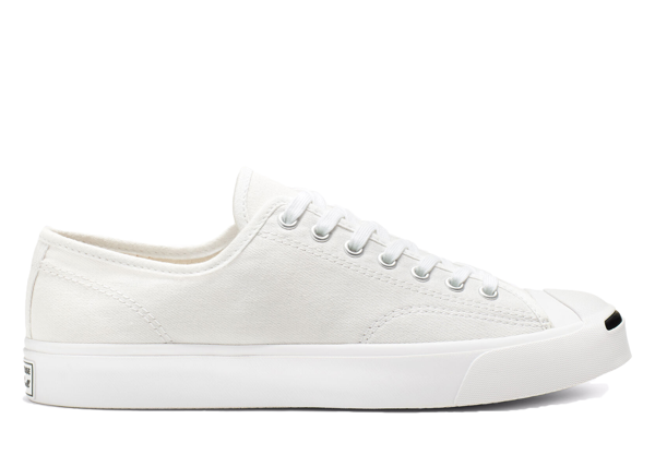 Pre-owned Converse  Jack Purcell Canvas Low White In White/white/black
