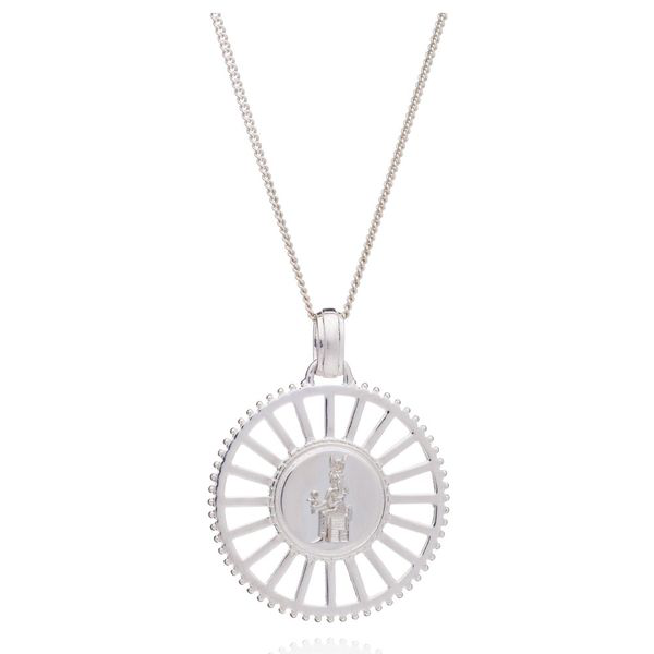 Rachel Jackson Queen Of Revelry Medallion Necklace - Silver