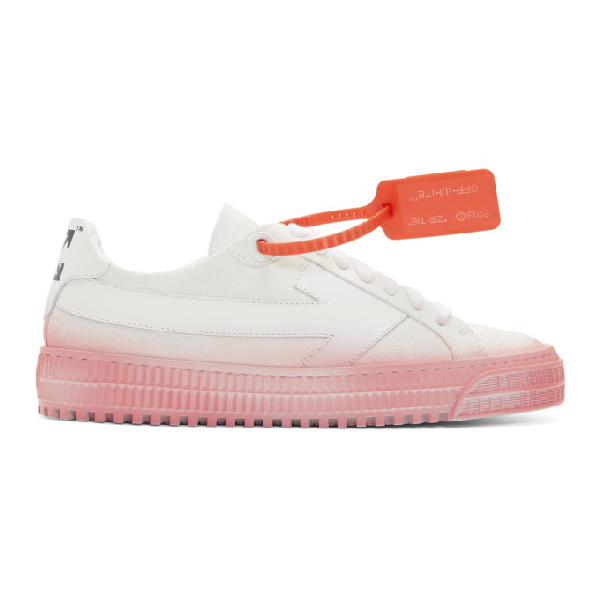 Off-white 3.0 Low Sneakers In White And Fuchsia