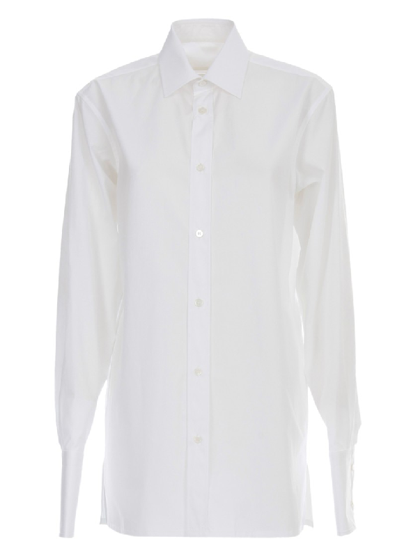 Maison Margiela Cotton Shirt In White